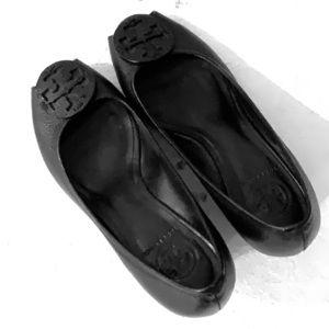 Tory Burch peep toe wedge